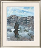Eagle over Mount Rushmore Print