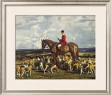 Stanley Barker And The Pytchley Hounds Limited Edition Framed Print by Sir Alfred Munnings