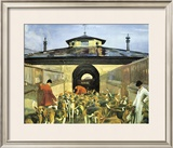 The Belvoir Hunt, Hunting Morning At The Kennels Limited Edition Framed Print by Sir Alfred Munnings