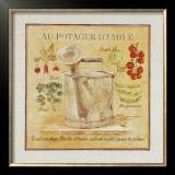 Au Potager d'Emile Print by Pascal Cessou