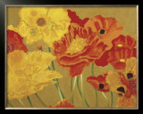 Poppy Garden I Posters by Beverly Jean