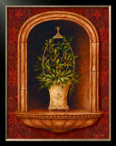 Olive Topiary Niches I Poster by Pamela Gladding