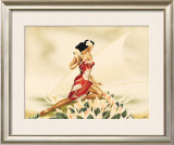 Wahine in Red Framed Giclee Print by  Gill