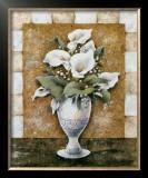 Vase of Callas Poster by A. Da Costa