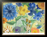 Blue Flowers Poster by Gayle Kabaker
