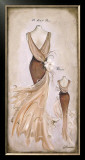 Vestido Beige Poster by Luisa Romero