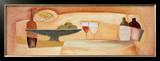 Apples Bottles and Glasses Prints by Alfred Gockel