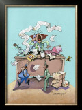 T.G.I.F. Framed Giclee Print by Gary Patterson