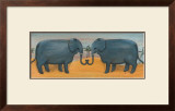 Elephants in Love Posters by Emma Stubbs Hunk
