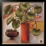 Passion Fruit and Vase Art by Margaret Hughlock