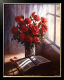 Bible and Roses Prints by Lynn Pitard