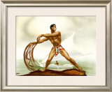 Net Fisherman with Outrigger Framed Giclee Print by  Gill