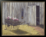 The Flower Cart Art by Kathleen Green