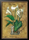 Flores Blancas II Art by A. Vega