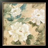 White Flowers II Prints by Jil Wilcox