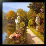 Water Garden I Posters by Spartaco Lombardo