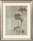 Silver Foliage I Poster by Ella K.