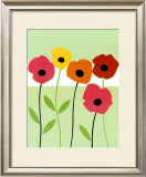 Playful Poppies Print by Muriel Verger