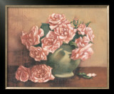French Cottage Roses I Prints by Linda Hanly
