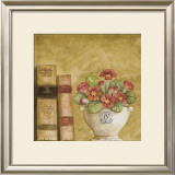 Potted Flowers with Books VII Prints by Eric Barjot