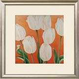 White Tulips Print by Erik De André