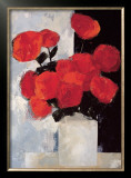 Bouquet of Red Roses in a White Vase Posters by Paul Donaghy