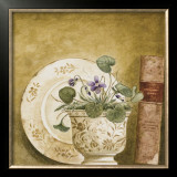 Potted Flowers with Books VIII Prints by Eric Barjot