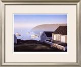 Monhegan Harbor Limited Edition Framed Print by Daniel Pollera