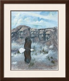 Eagle over Mount Rushmore Art