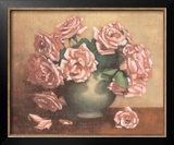 French Cottage Roses II Prints by Linda Hanly