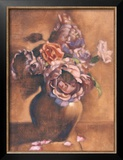 Vintage Chic Roses I Poster by Linda Hanly