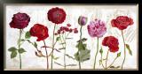 Le Jardin aux Fleurs Rouge Posters by Valerie Roy
