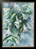 White Lilies Prints by Mae Book