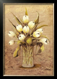 White Tulips in Crystal Print by L. Romero