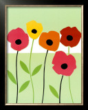 Playful Poppies Posters by Muriel Verger