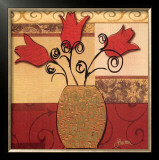 Tulip Trio Posters by Jill Barton