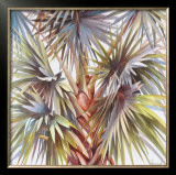 Blue Palm Poster by Lois Brezinski