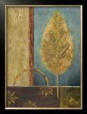 Azure Leaf Prints by Viola Lee