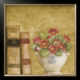 Potted Flowers with Books VII Posters by Eric Barjot
