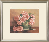 French Cottage Roses I Art by Linda Hanly