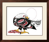 Eagle and Salmon Limited Edition Framed Print by Richard Shorty
