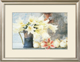 Longiflorum Lilies in a Jug Print by Linda Burgess