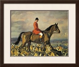 Portrait Of Major T. Bouch With The Belvoir Hounds Limited Edition Framed Print by Sir Alfred Munnings