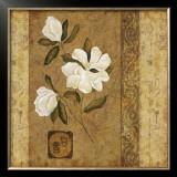 Magnolia Stripe I Poster by Gene Ouimette