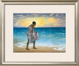 Hawaiian Fisherman Framed Giclee Print by Charles W. Bartlett