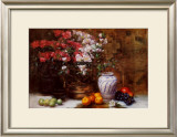 Still Life with Azaleas Prints by F. Janca