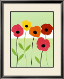 Playful Poppies Prints by Muriel Verger