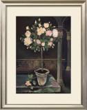 Rose Topiary Prints by Karel Burrows