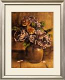 Vintage Chic Roses II Print by Linda Hanly