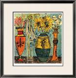 Flowers In Ceramic And Glass II Limited Edition Framed Print by Olivia Maxweller
